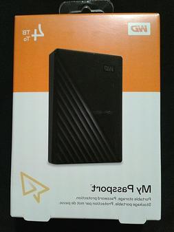 WD MyPassport 4TB External USB3.0 PortableHardDrive WDBPKJ00