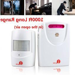 1byone 1000ft Wireless Driveway Door Alarm Alert System Home