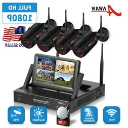 ANRAN Wireless Security Camera System 4CH WiFi 1080P NVR Hom
